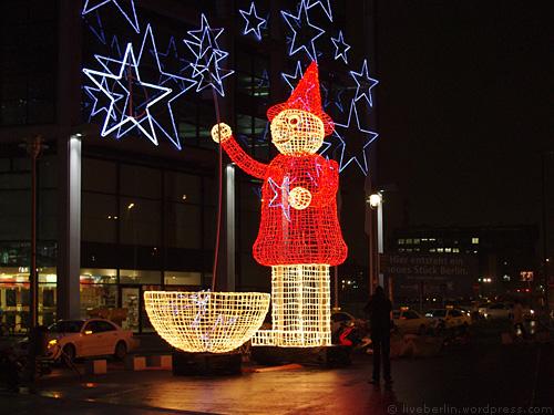 Neon Snowman in Berlin