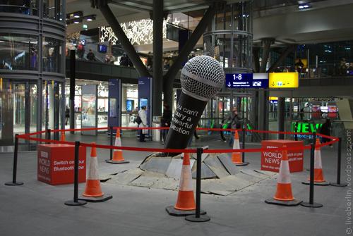 Huge microphone