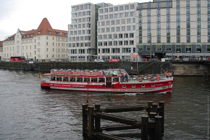 Red Pleasure Boat on the Spree River