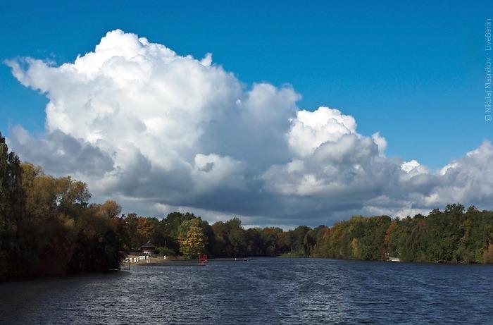 Cloudy Sky Over The Plötzensee