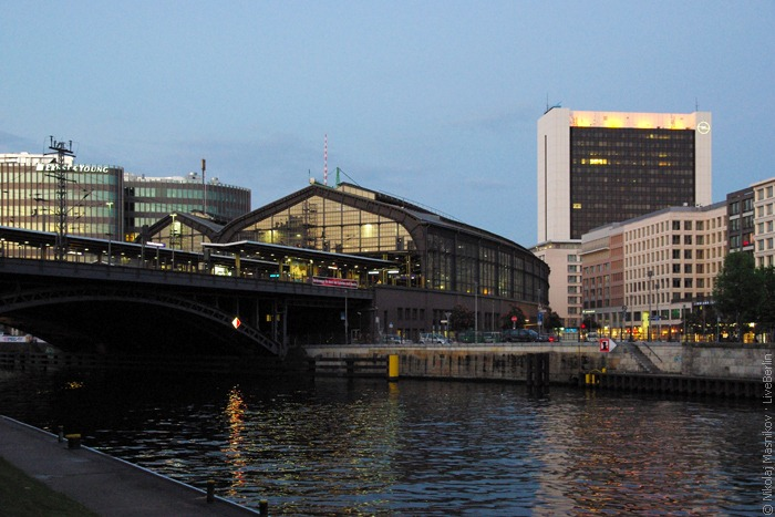 Friedrichstraße Railway Station In The Night