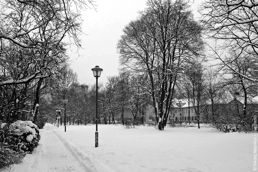 Winter in Black and White. Berlin. Siemensstadt