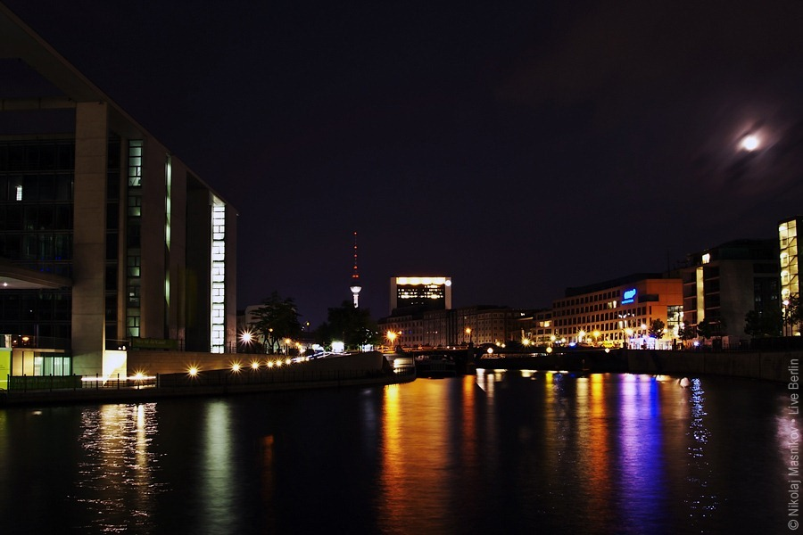 Spree Quay In The Night