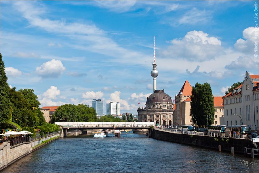 East Berlin From The Weidendamm Bridge