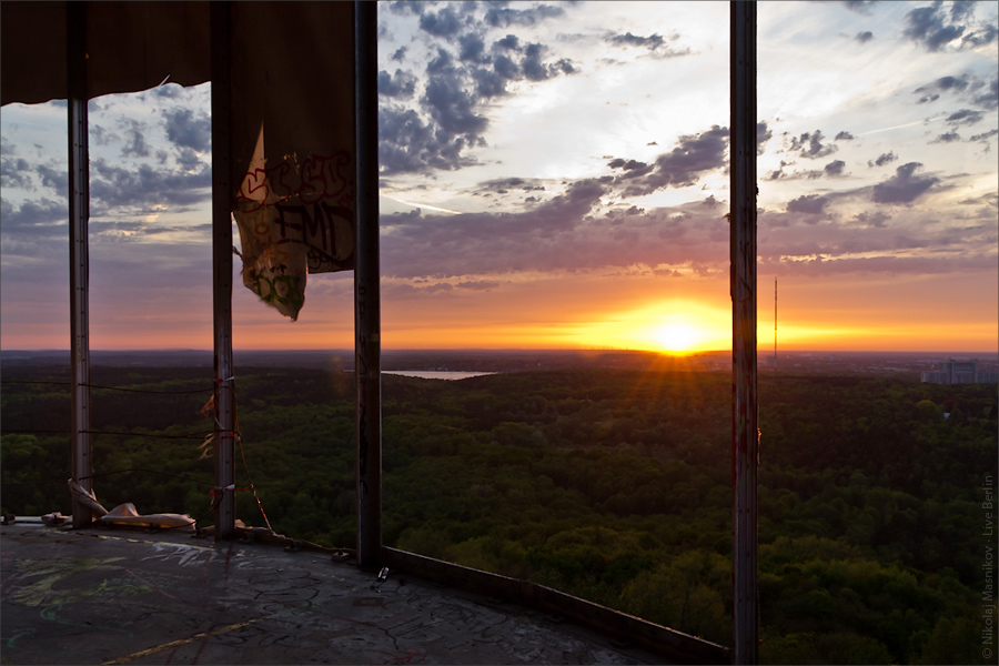 Sunset seeing from Teufelsberg, Berlin.
